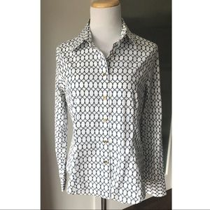 Talbots wrinkle resistant button up shirt